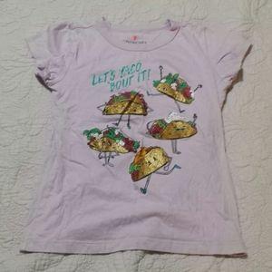 Crewcuts Girls Taco Purple T-SHIRT Size 8